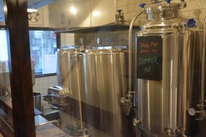 brewing and fermentation room at Campion Ale