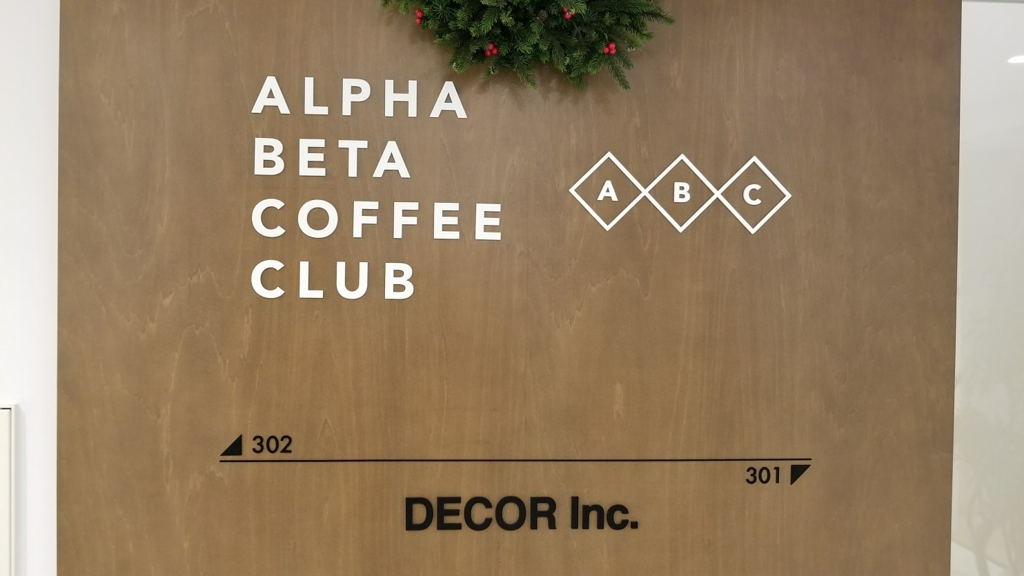 Alpha Beta Coffee Club Logo