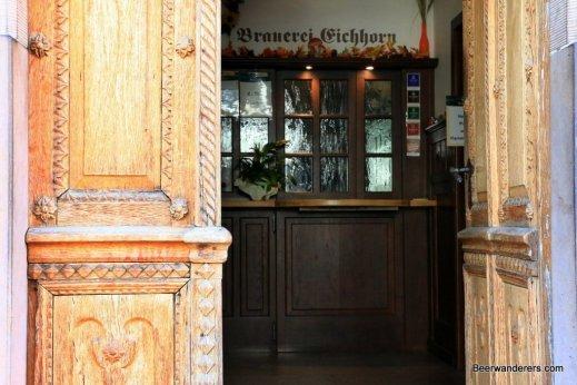 old wooden door brewery