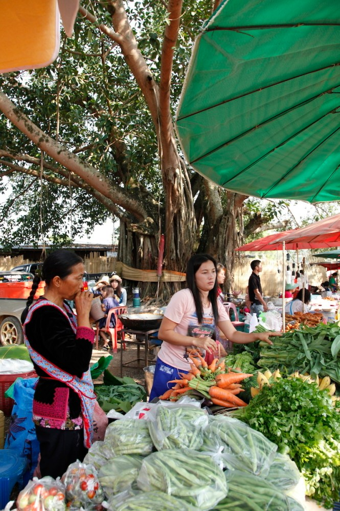 Hmong Hilltribers at their local market