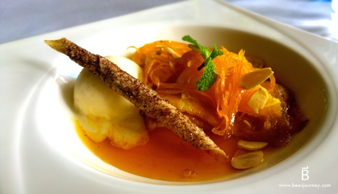 French Crepe Suzette. Whale's Belly Luxury Fine Dining Bangkok