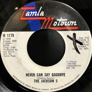 "The Jackson 5 / Never Can Say Goodbye (7"")"