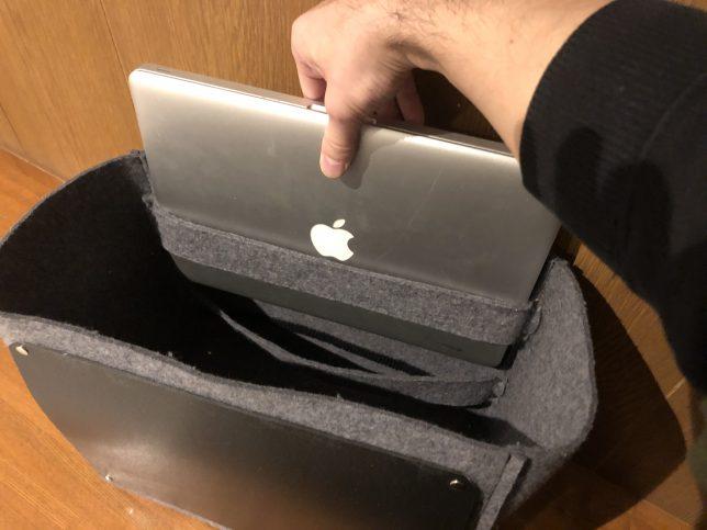 13インチラップトップも入るレコードバッグ
