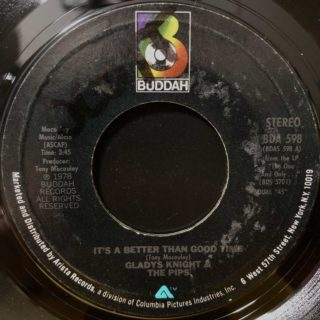 "Gladys Knight & The Pips / It's A Better Than Good Time (7"")"