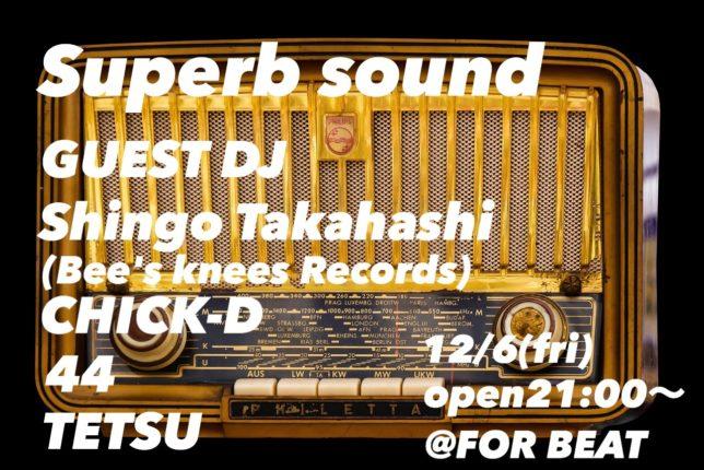 Superb sound@FOR BEAT