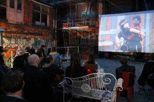 Outdoor cinema at Cobden Chambers with Kneel Before Zod