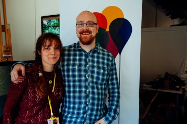 Two very tired organisers at closing time on Sunday - Photo by Zac Pickin