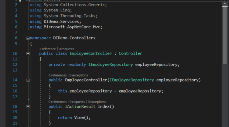 asp.net core dependency injection