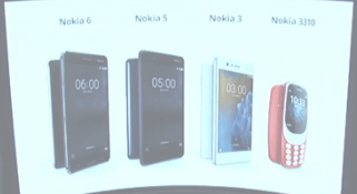 nokia 3, 5, 6 and 3310