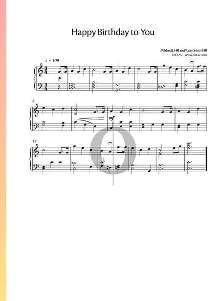 Happy Birthday Sheet Music Piano Solo Pdf Download Streaming Oktav