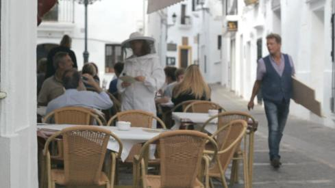 Vejer de la Miel / street performance action.