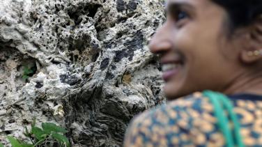 Fatema Abdoolcarim's intervention at the cave of Santa Lucía