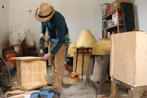 Rincón de reconstrucción de colmenas
