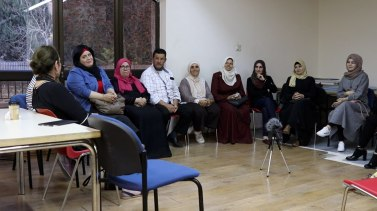 All together at the East Jerusalem Public Library