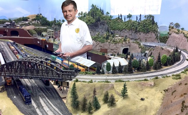 Mayo Pete Likes Model Trains