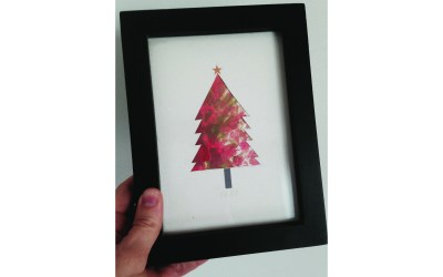 Christmas Crafting – Finger Painted Christmas Tree