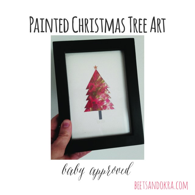 diy christmas art ---> beetsandokra.com