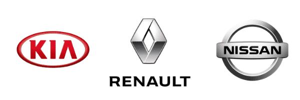 Nos partenaires : Kia Renault et Nissan