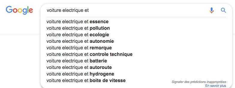 Préjugés voiture électrique Google