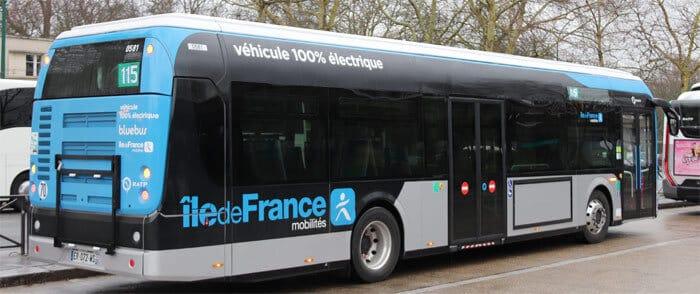 bus électrique de la RATP