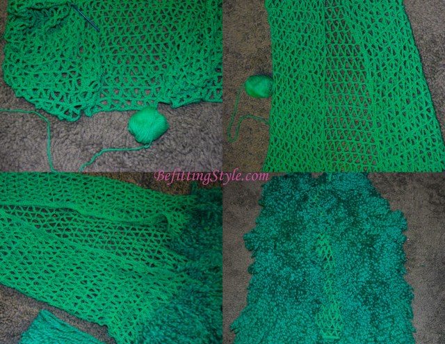 Befitting Style Knitwear green vest process 2