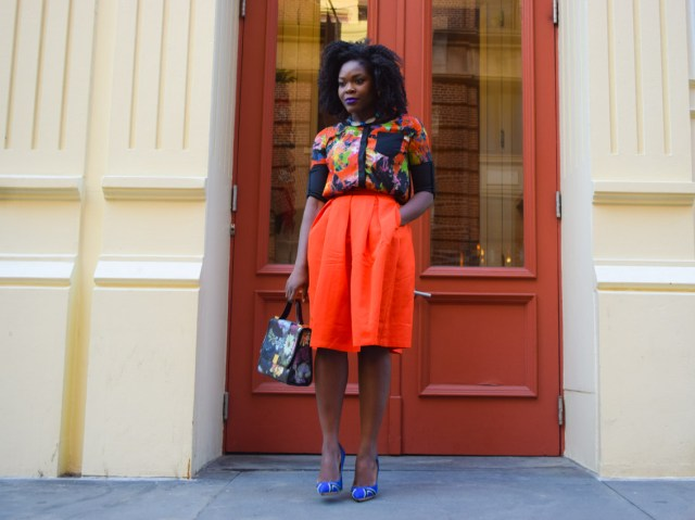 Befitting Style Red Full Skirt Color Block Top 16