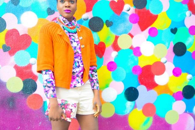 Befitting Style Oyinkan Wearing Brights Button Down w- khaki shorts 9