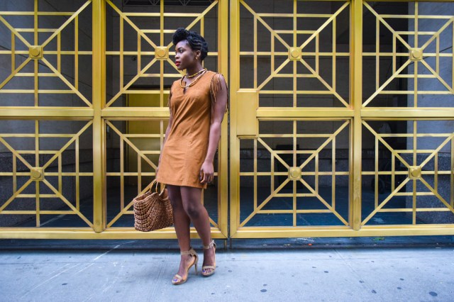 Befitting Style Oyinkan Wearing Brown In The Spring 7