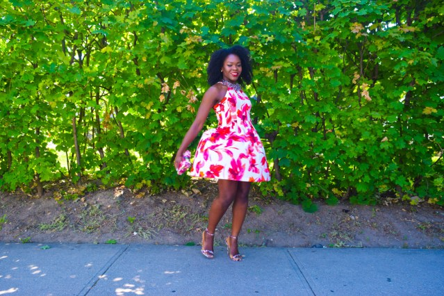 Bridal Shower | Red Floral Dress
