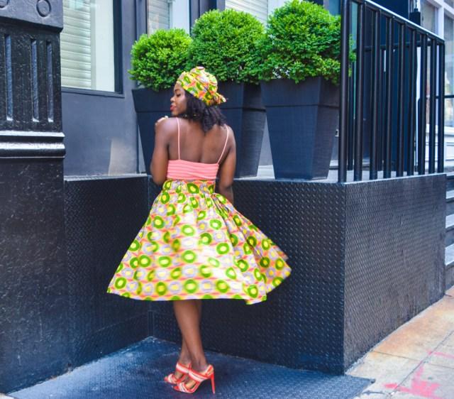 Befitting Style Oyinkan Wearing Ankara Print Skirt With Crop Top 12