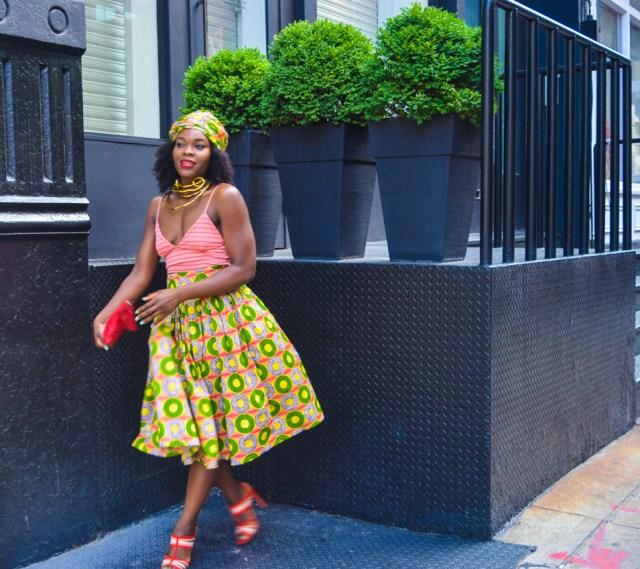 Befitting Style Oyinkan Wearing Ankara Print Skirt With Crop Top 16