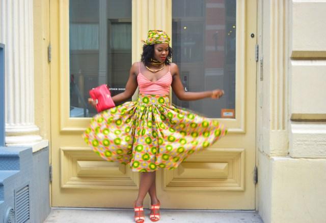 Befitting Style Oyinkan Wearing Ankara Print Skirt With Crop Top 8