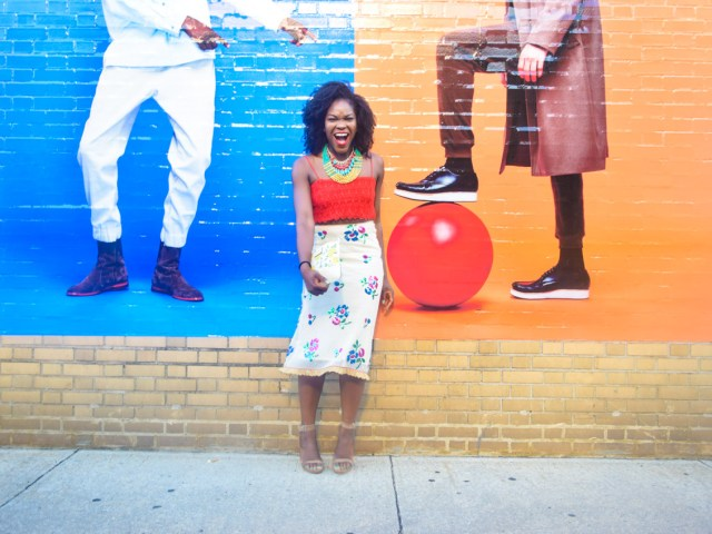 Befitting Style Oyinkan Wearing Sequin Applique Skirt w-Crop top 13