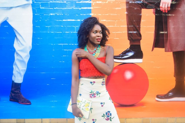 Befitting Style Oyinkan Wearing Sequin Applique Skirt w-Crop top 16