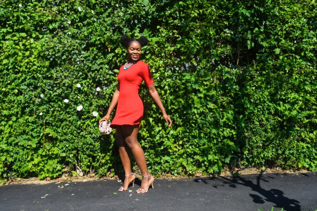 How I Style | Simple Red T-Shirt Dress