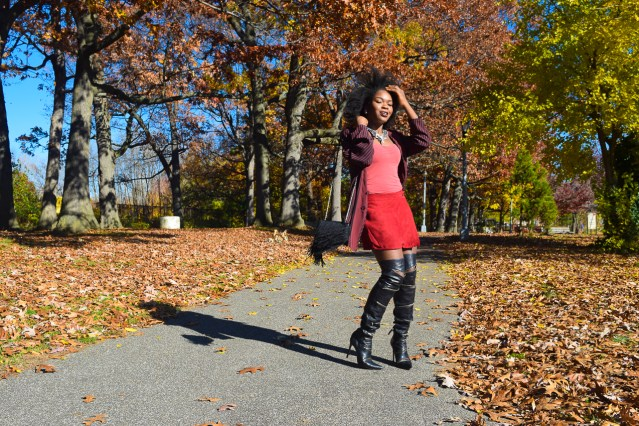 Pumpkin & Burgundy | Duster & Skort
