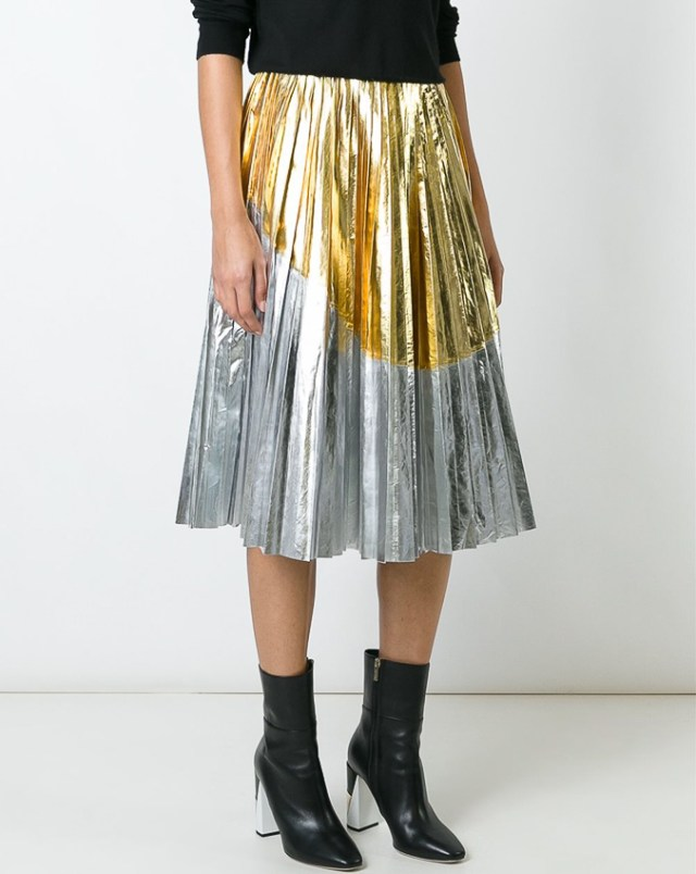 n-21-two tone metallic pleated skirt-1-redo