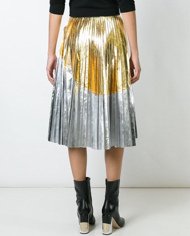 The 2 Tone Metallic Skirt That Brightens Any Look | Befitting Picks