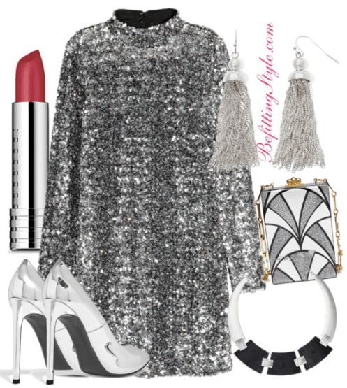 holiday-party-look-silver-long-sleeve-sequin-dress-befitting-style