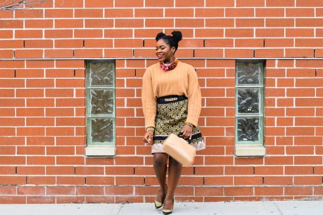 NYFWM FW17 | Oversized Sweater + Full Skirt