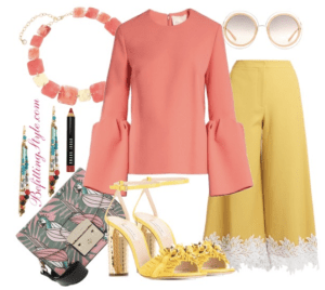 How To Wear Coral Roksanda Truffaut Bell Sleeve Top - Befitting Style