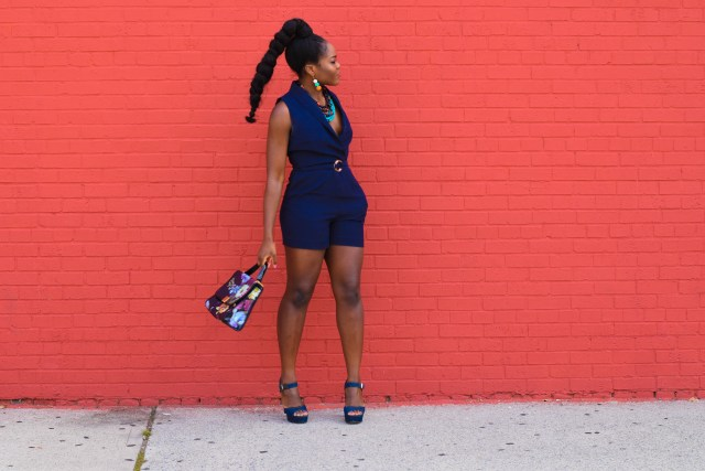 Befitting Style Navy Romper | NYFW SS18 Day 6