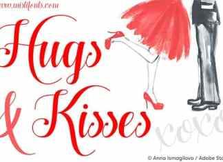 Hugs and Kisses Xoxo Font