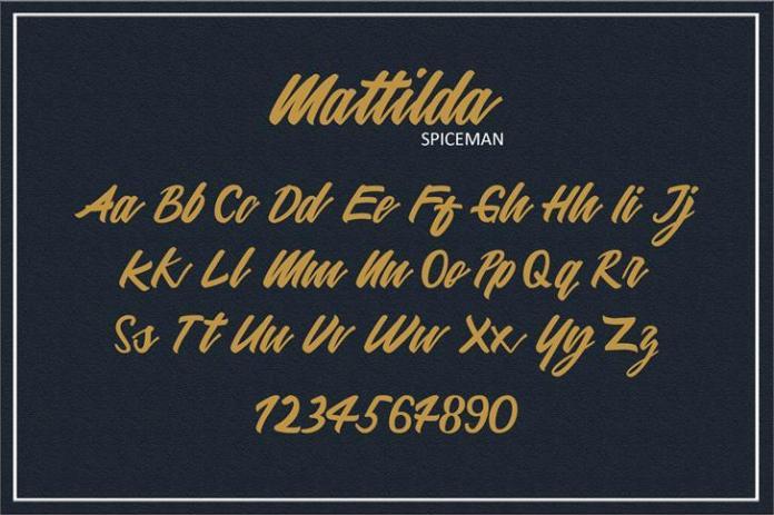 Mattilda Script Font
