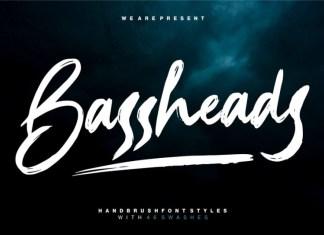 Bassheads Brush Font