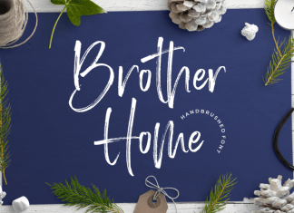 Brother Home Brush Font