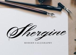 Shergine Calligraphy Font