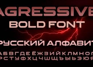Agressive Display Font