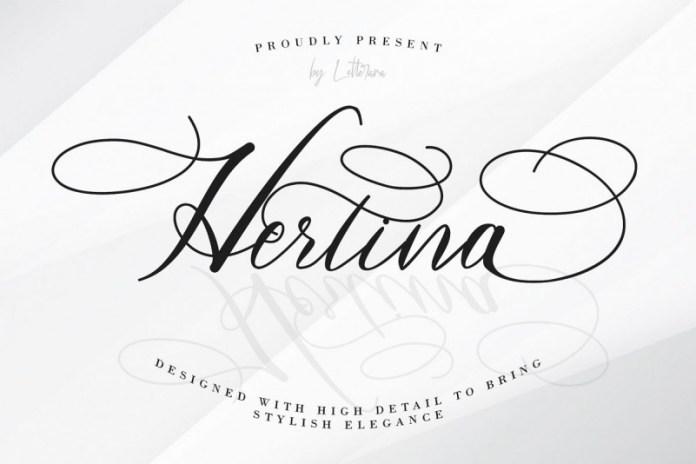 Hertina Calligraphy Font
