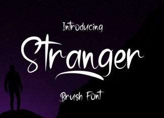 Stranger Brush Font